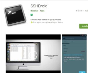 SSHDroid para acesso remoto no Android - Framework